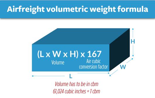 formule poids volumetrique