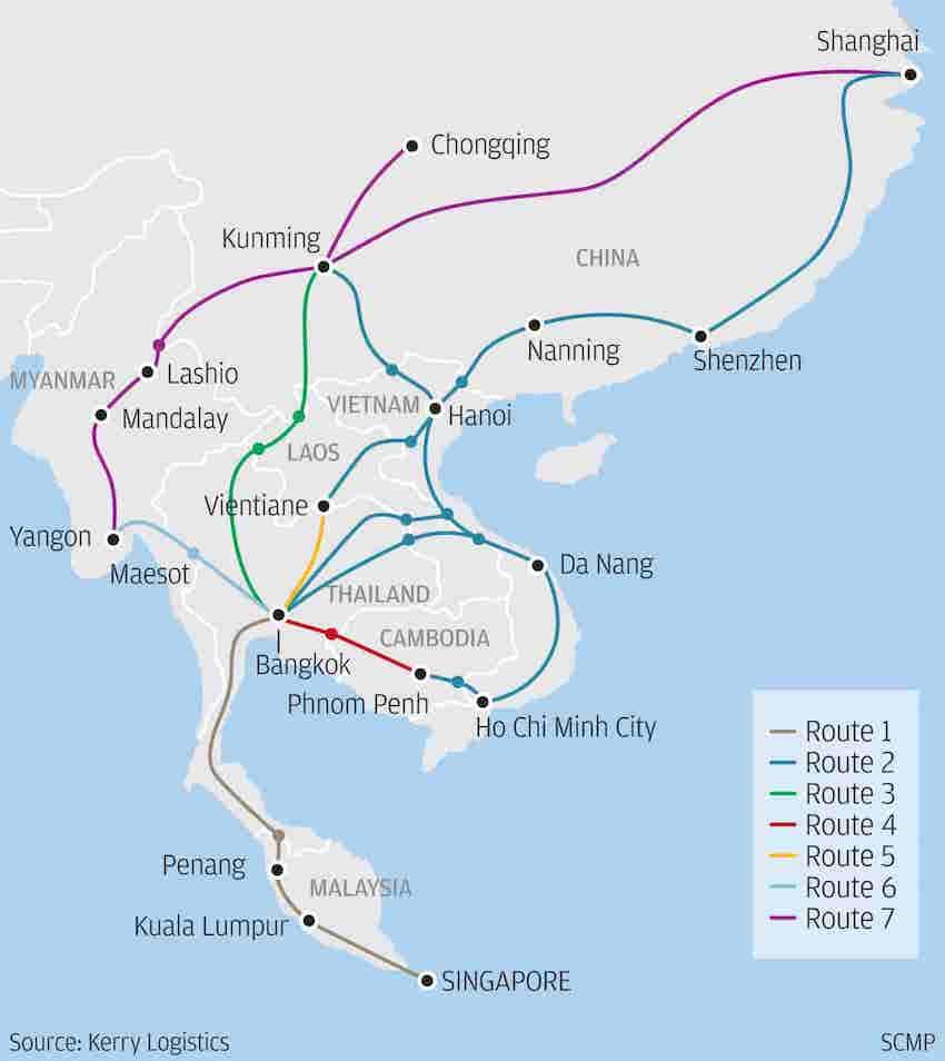 transport transfrontalier chine