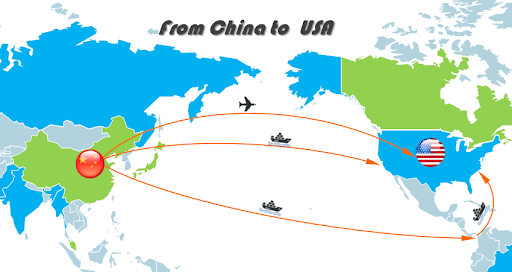 China to USA