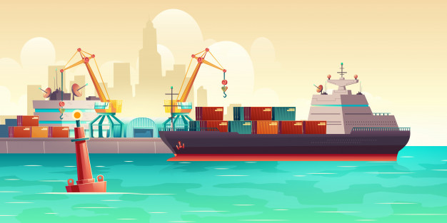 Bâteau fret maritime
