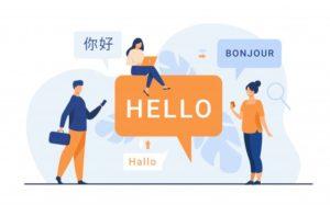 communication entre différentes langues, traduction