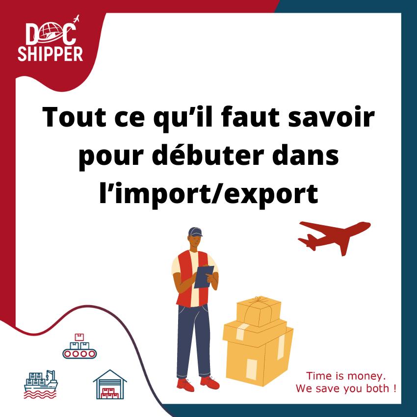 debuter dans l'import/export